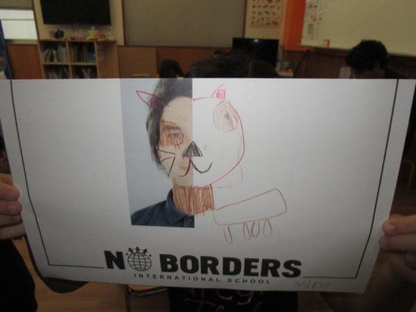 講師の顔を傑作にした絵